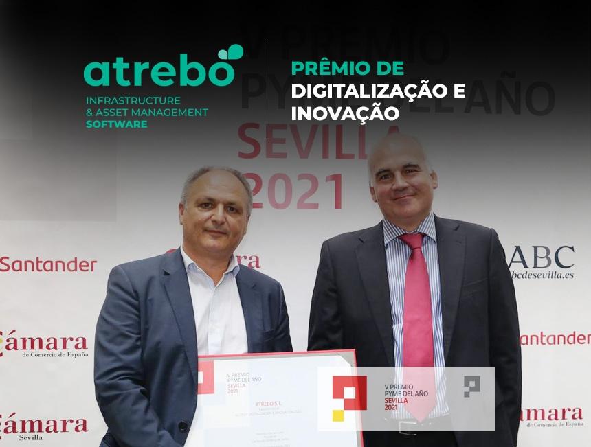 Atrebo recebe o Prêmio de digitalização e inovação da Câmara de Comércio de Sevilha e do Banco Santander
