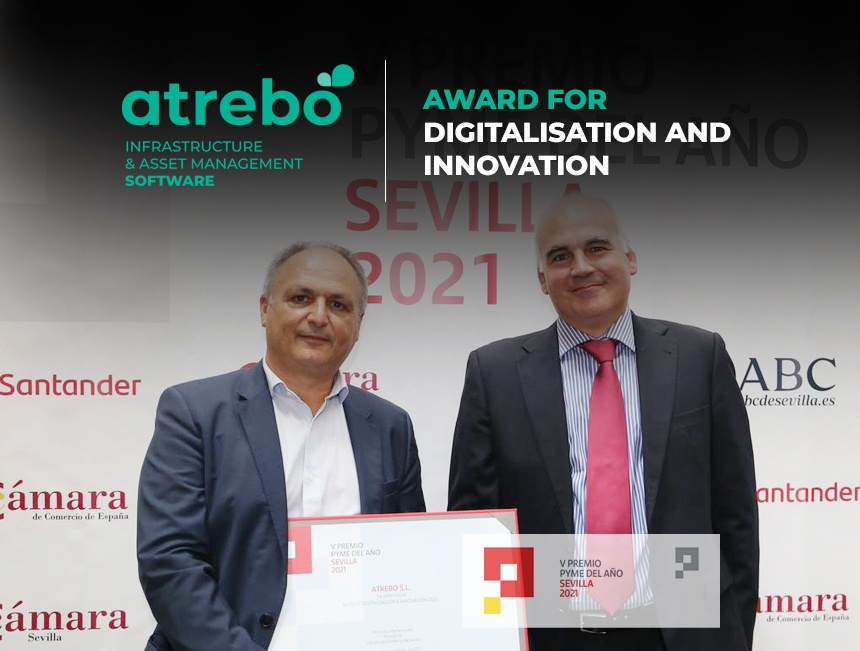Atrebo wins the Digitalisation and Innovation Award of the Chamber of Commerce of Seville and Banco Santander